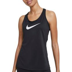 Women's Solid With Nike Logo Razor Back Top