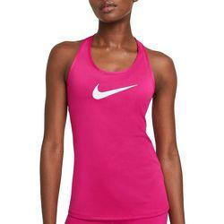 Nike Women's Solid With Nike Logo Razor Top