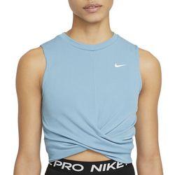 Nike Womens Dri-Fit Cropped Twist Training Tank Top