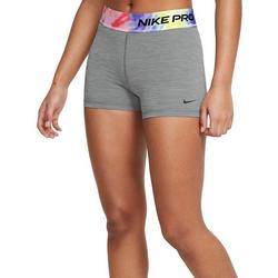 Womens Solid Shorts With Tye Dye Waistband