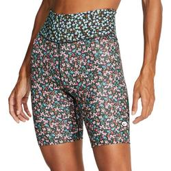 Womens Floral Print Bike Shorts