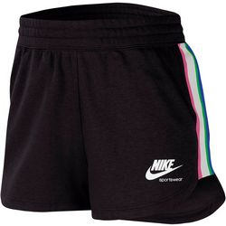 Nike Womens Side Stripe Fleece Drawstring Shorts