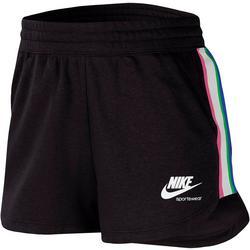 Womens Side Stripe Fleece Drawstring Shorts