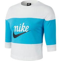 Nike Womens Colorblock Varsity Logo Top
