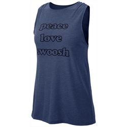 Womens Peace Love Swoosh Tank Top