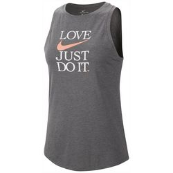 Nike Womens Dri-FIT Yoga Love Just Do It Sleeveless Tank