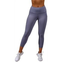 Yogalicious Womens Solid High Waist Capri Leggings