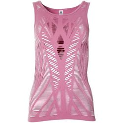 Yogalicious Womens Solid Cutout Lattice Tank Top