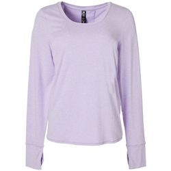 Womens Solid Open Back Long Sleeve Top