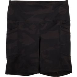 Yogalicious Womens Dark Camo Biker Shorts
