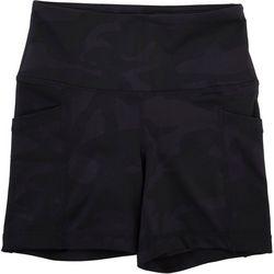 Yogalicious Womens Camo Pull On Bike Shorts