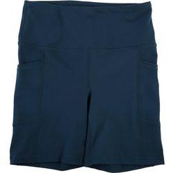 Yogalicious Womens Solid High Waist Biker Shorts