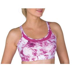 Womens Tie Dye Mesh Pocket Sports Bra