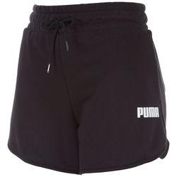 Puma Womens Solid Logo Elastic High Waist Shorts