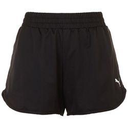 Puma Womens Solid Logo Elastic Waist Shorts