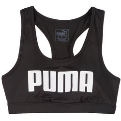 Puma Womens Solid Logo Racerback Sports Bra