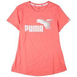 Puma Womens Echo Logo Graphic T-Shirt