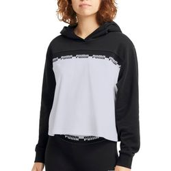 Puma Womens Amplfied Colorblock Cropped Hoodie