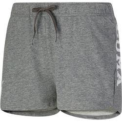 Puma Womens Solid Logo Elastic Waist Drawstring Shorts