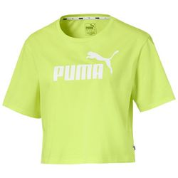 Puma Womens Essential Logo Cropped Short Sleeve T-Shirt