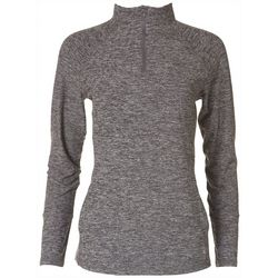 Reel Legends Womens Heathered Quarter Zip Pullover