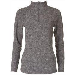 Womens Heathered Quarter Zip Pullover