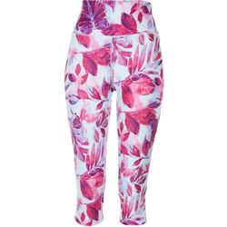 Reel Legends Womens Leaf Print Cropped Leggings