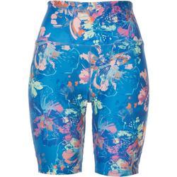 Womens Printed Biker Shorts