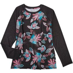 Womens  Printed Long Sleeve With Solid Sleeves