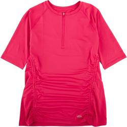 Womens Freeline Solid Scrunched Top