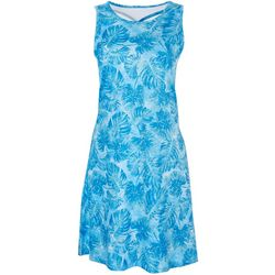 Reel Legends Womens Printed Dress With Keyhole Back