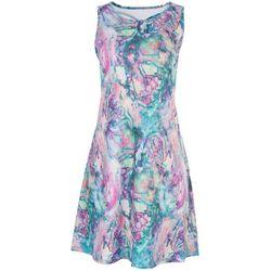 Reel Legends Womens Marbled Print Dress