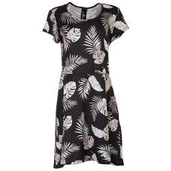 Womens Printed Short Sleeve Tee Dress
