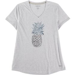Reel Legends Womens V Neck Pinapple Top