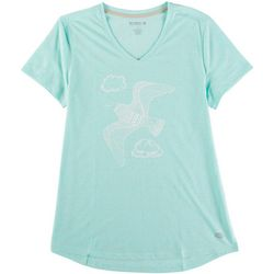 Reel Legends Womens V Neck Seagull Top
