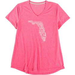Reel Legends Womens V Neck Florida Top