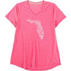 Womens V Neck Florida Top