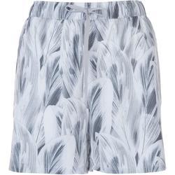 Womens Leaf Layered Print Shorts