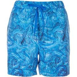 Womens Marbeled Shorts