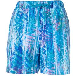 Womens Marbled Pull Shorts