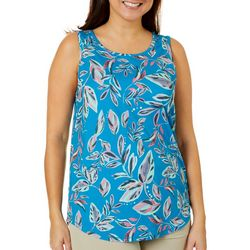 Reel Legends Womens Keep It Cool Floral Print Cage Back Top