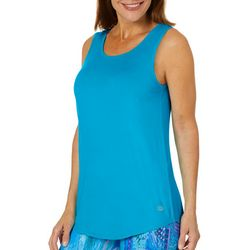 Reel Legends Womens Keep It Cool Solid Cage Back Top