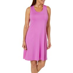 Reel Legends Womens Keep It Cool Cascade Palms Keyhole Dress