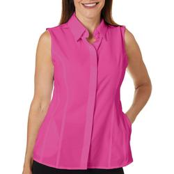 Womens Adventure Solid Sleeveless Top