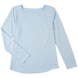Reel Legends Womens Freeline Squared Neck Long Sleeve Top