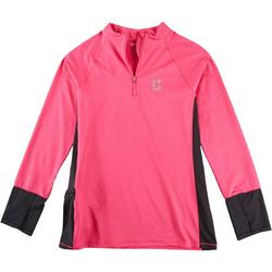 Womens Color Block Quarter Zip Pullover