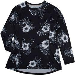 Reel Legends Womens Keep It Cool Sketchy Floral Packable Top