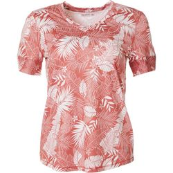 Reel Legends Womens Keep It Cool Tropical  Mesh Panel Top