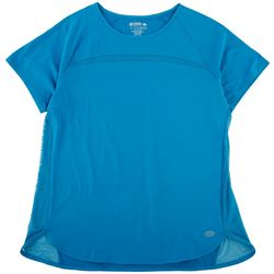 Reel Legends Womens Solid Short Sleeve With Mesh Detail