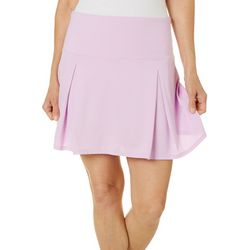 Reel Legends Womens Escapade Solid Pleated Skort